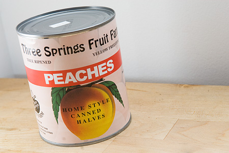 Locally canned 3 Springs Peaches and local, freshly whipped cream