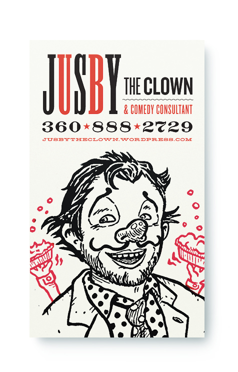 Jusby the Clown Business Card