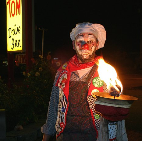 Jusby with the flaming pie
