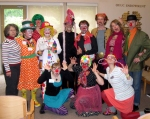 For the April Fool's Service, Rev Jusby and the Clown Entourage